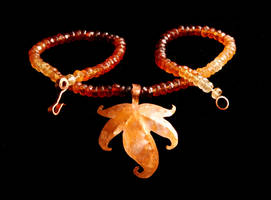 Copper Leaf Necklace by starglo21