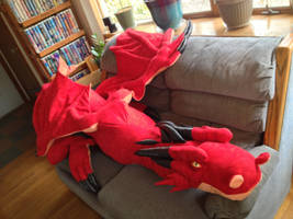 Smaug-Inspired Giant 8 1/2 ft Custom Plushie by SarahMiele