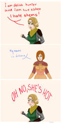 Fenaril, oh no she's hot by Thorinanei