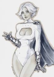 Power Girl Sketch 1 by Somalo1