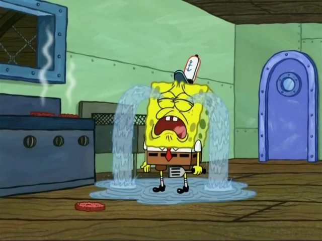 Spongebob crying by Callewis2