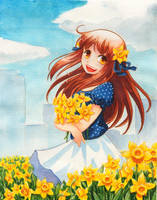 091011 daffodils by DejiNyucu