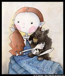 Dorothy and Toto by DejiNyucu