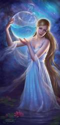 The Night Before the full Moon by Selenada