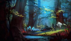 Happy Birthday Jenny!! *Magic Forest* by Selenada