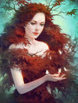 Red Maple by Selenada