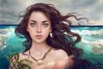 'Water Splash' Adoptable Portrait (CLOSED) by Selenada