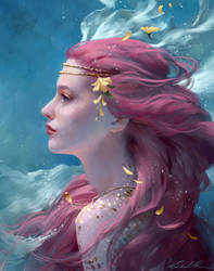 Mermaid Portrait by Selenada