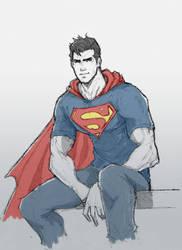 Superman by dorkynoodle