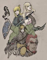 Legend of Zelda by dorkynoodle