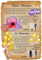 bestiario - rana-monstruo y Mancara by MentaShizaki