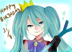 Miku 9th Anniversary by anoneki