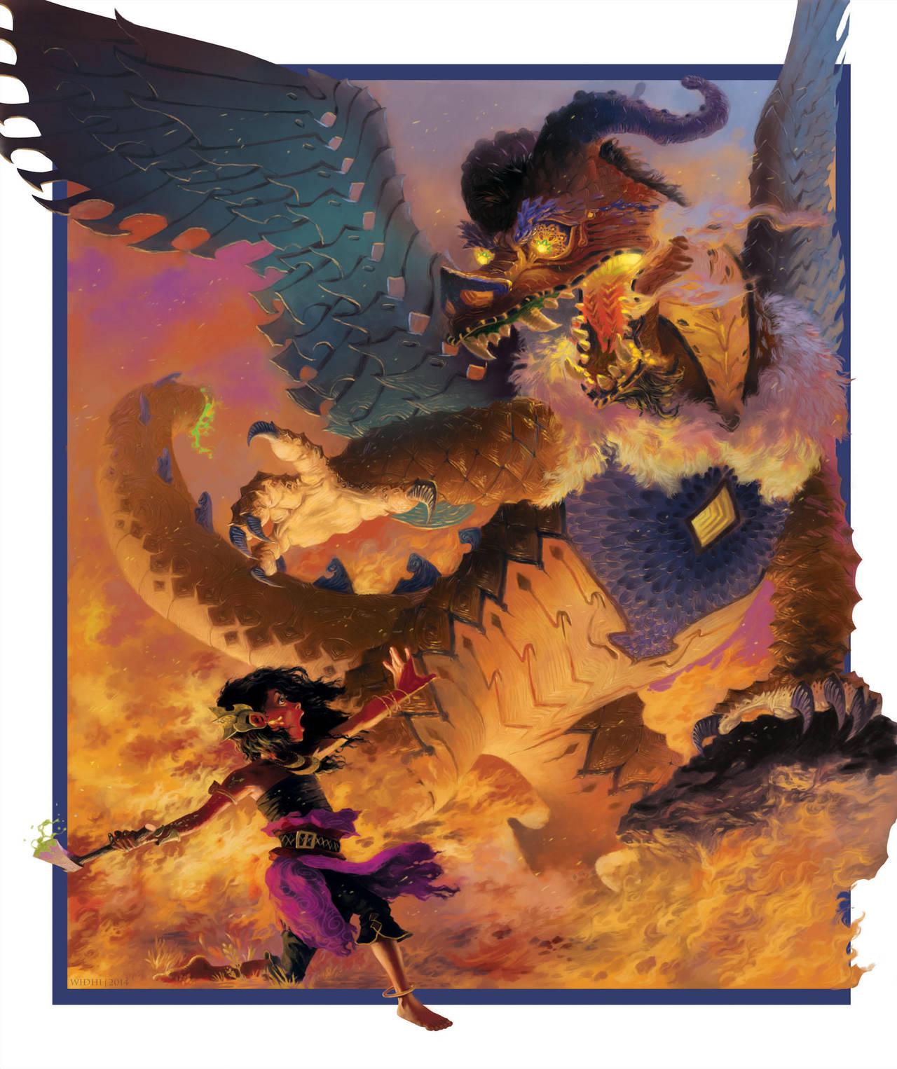 Amanda and the Dragon by Widhi