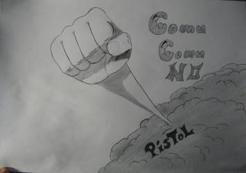 Gomu Gomu no Pistol by salocata