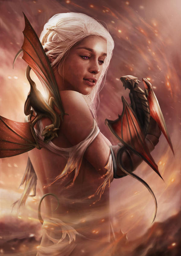 Daenerys Targaryen by HarryOsborn-Art