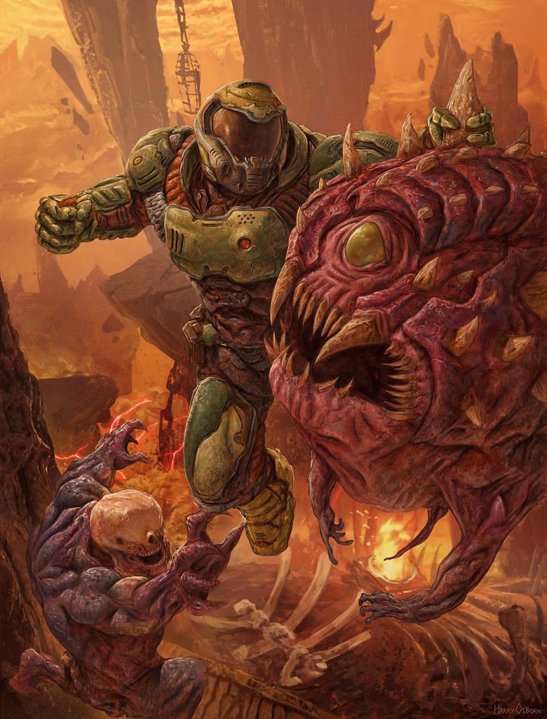 Doom By Harryosborn Art On Deviantart