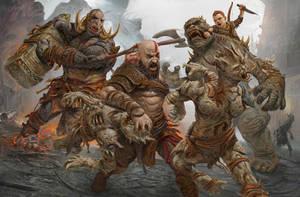 God of War 4 by HarryOsborn-Art