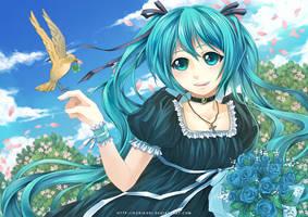 Vocaloid - Daughter of Green by kuridoki