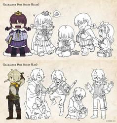 Character Sheets - IIlya and Leo by kuridoki