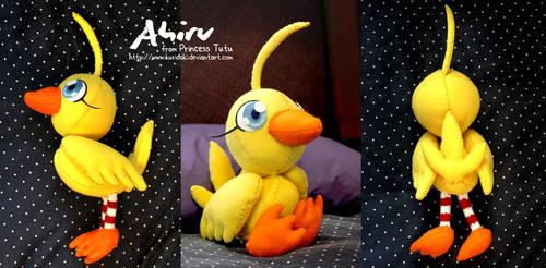 Princess Tutu - Ahiru Plushie by kuridoki