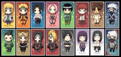 Naruto Bookmarks by kuridoki