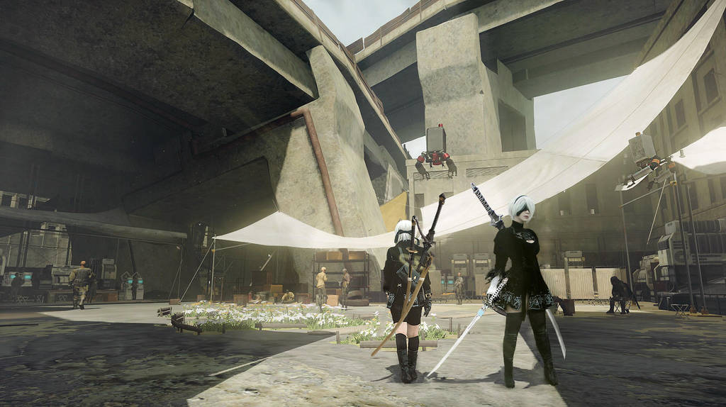 Nier Automata: Resistance Camp by oscanN