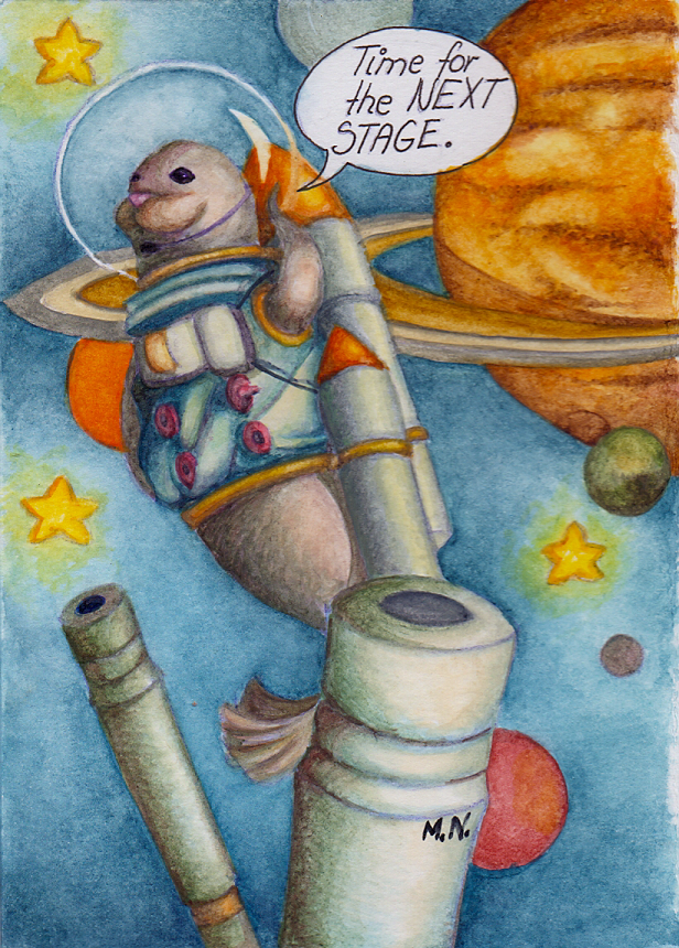 Personal Cards: Astro-seal-aut by MissTentacle