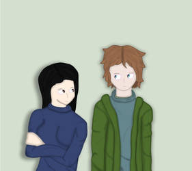 Happy couple (June and Cian ocs) by mortified-Archie
