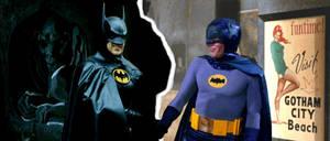 Nightmarish Batman meets Pleasantville-ish Batman by StevenEly