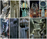New York City is the real Gotham City: Statues by StevenEly