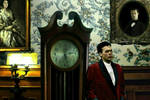 Wayne and Wayne Manor Grandfather Clock by StevenEly