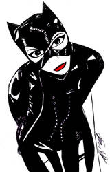 Kat as Catwoman by StevenEly