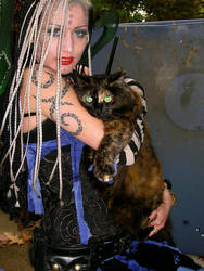 Angela and cat by StevenEly