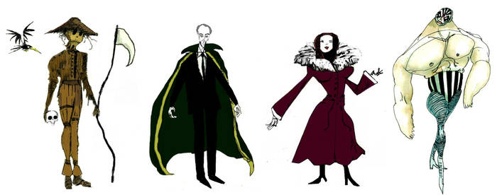 Tim Burton Batman Villains Art Designs Part 3 by StevenEly