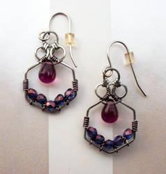Hex Drops Earrings by MalfaitLuciu