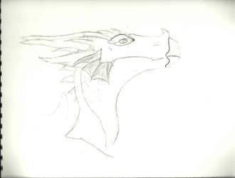 Dragon head by CrimzenWolf