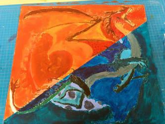 Dragon painting by CrimzenWolf