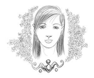 Oriental face by mejiasculptor