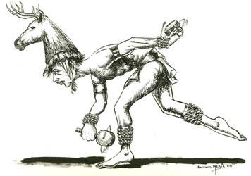 El danzante by mejiasculptor