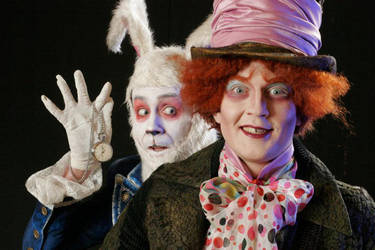 mad hatter and white rabbit1 by Adnil