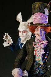 mad hatter and white rabbit2 by Adnil