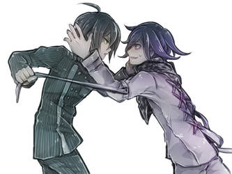 Saihara and Ouma by riyuta
