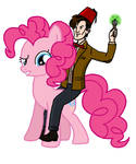 Pinkie pie and The Doctor by twinny0girl