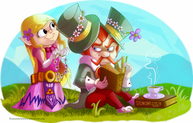 LOZ:ST - Daisies for the Chancellor by Turquoisephoenix