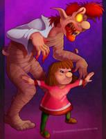 Zelda Collab - Pamela and Pamela's Father by Turquoisephoenix
