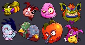 Crash Bandicoot - The Boss Icons You Missed by Turquoisephoenix