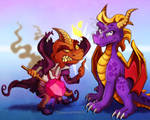 Spyro - You Singed My Cape AGAIN, Dragon! by Turquoisephoenix