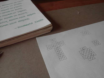 Calligraphy and Knotwork by Darkon-Lock
