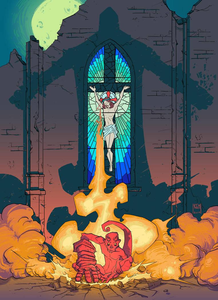 Hellboy - Birth. by WhotheFuckisRemBroo