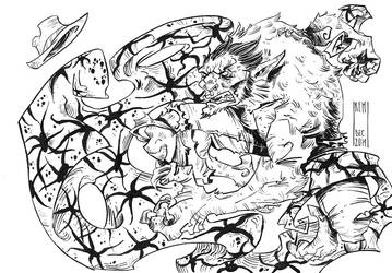Legion of Monsters - Werewolf, inks by WhotheFuckisRemBroo